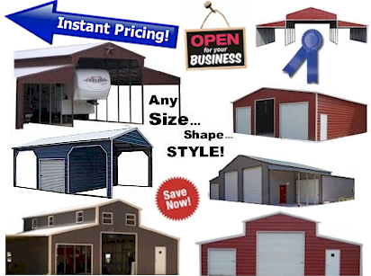 carports, barns, garages and other steel structures