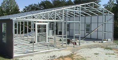 galvanized steel building